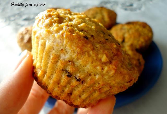 Muffinki bananowe bez cukru, mąki i tłuszczu