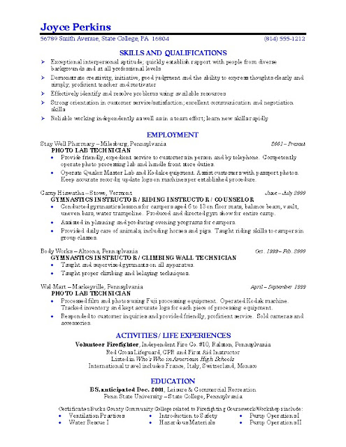 Job Resume Examples For High School Students Student Summer Format