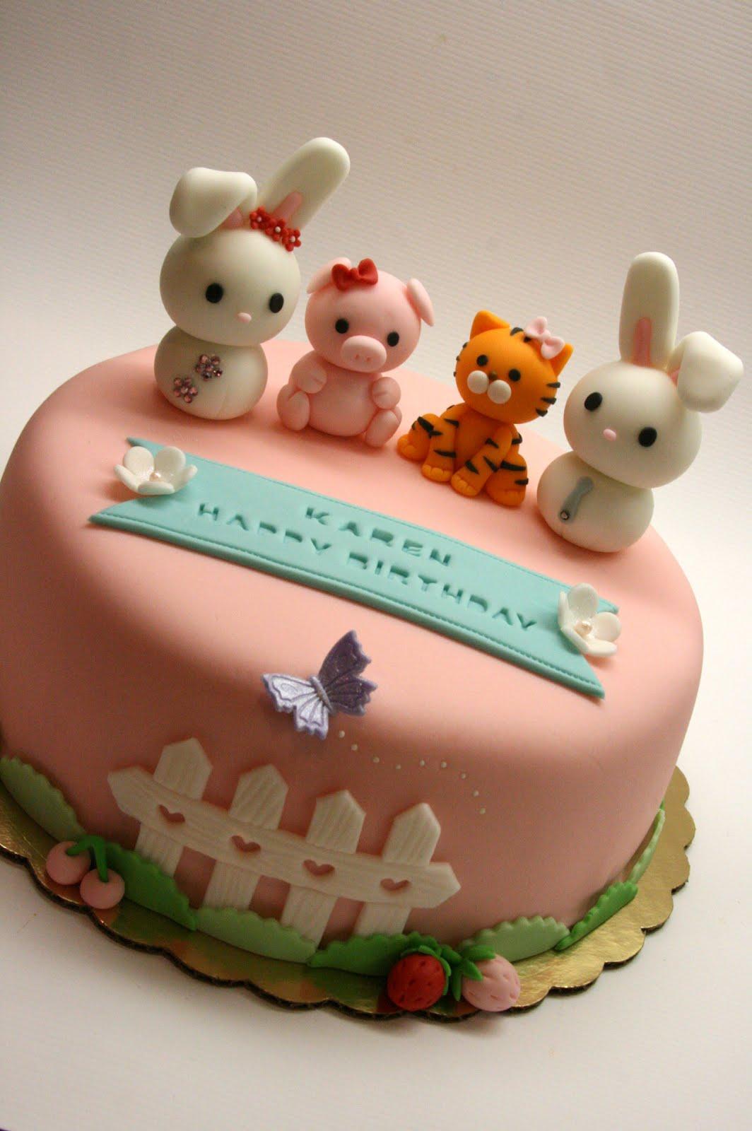Beautiful Kitchen Lovely Animal Family Cake For Karen S