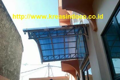 Canopy stainless pemasangan ditanjung barat