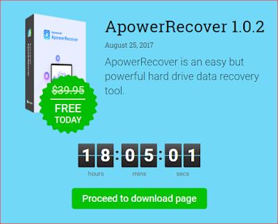 أداة ApowerRecover إستعادة البيانات من القرص الصلب مجانا اليوم فقط