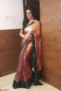 Udaya Bhanu lookssizzling in a Saree Choli at Gautam Nanda music launchi ~ Exclusive Celebrities Galleries 115.JPG