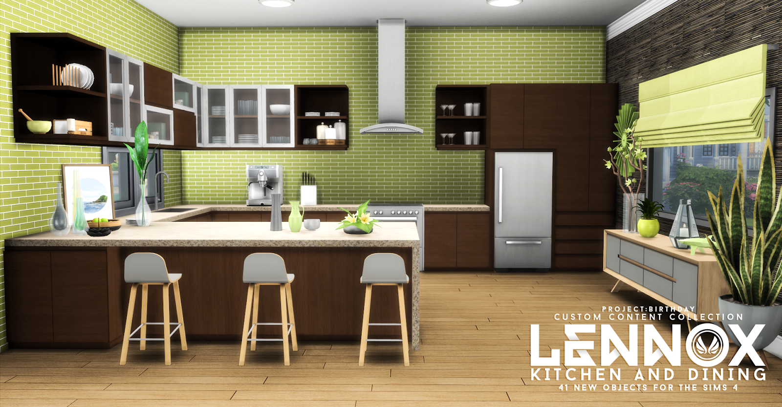 Simsational Designs Lennox Kitchen And Dining Set