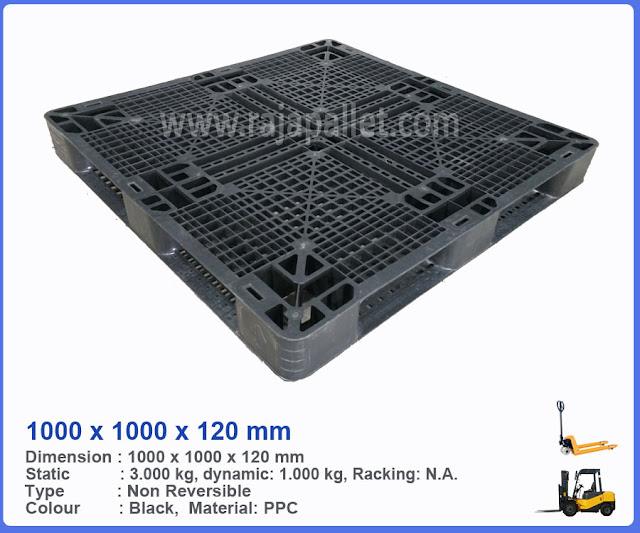 Pallet Plastik Bekas 1000 x 1000 x 120 mm
