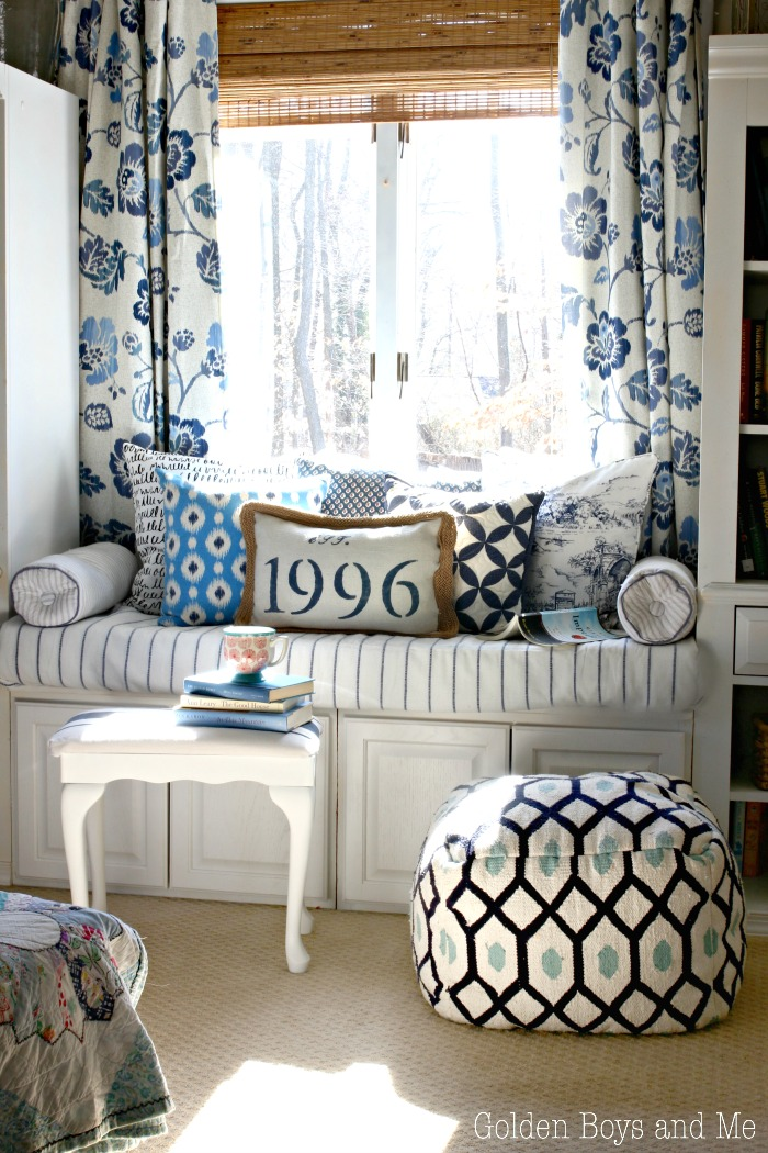 Blue White Master Bedroom