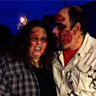 John and I in our Zombie costumes.