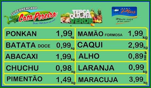 Confira as ofertas da terça e quarta verde na Casa Pereira dia 08