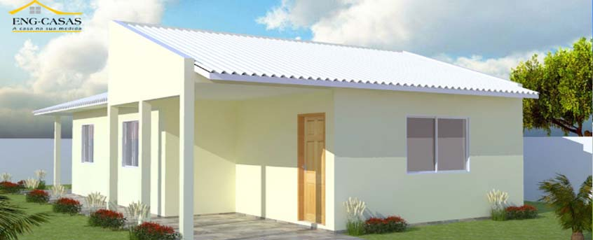 Are you looking for a simple house design? A place to live for you and your family? Modest homes considered to be not extravagant, just a simple design that provides a basic needs of the family — bedrooms, bathrooms, living area and the kitchen.  Here are 12 simple house design you can build in a lot area 80 sqm and below! All Photos are a credit to engcasas.com.br.