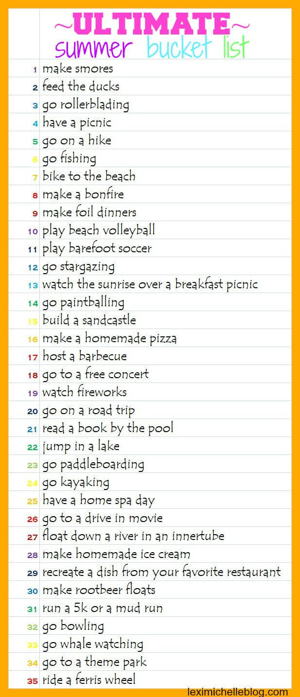 ultimate summer bucket list for adults