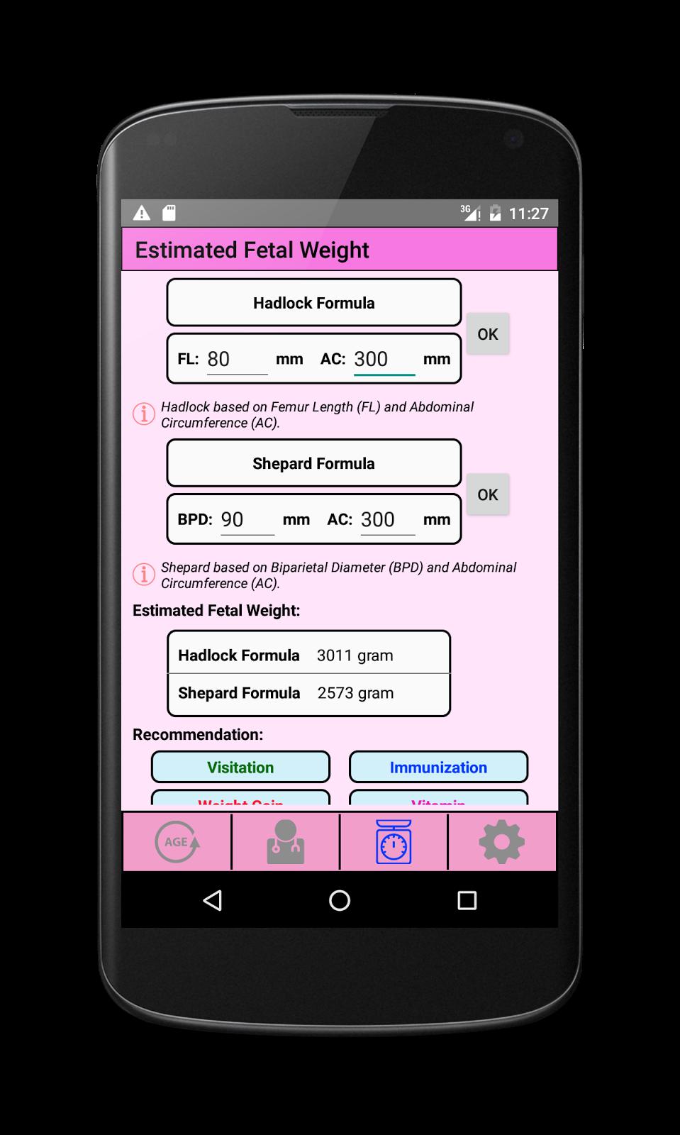fetal weight gain