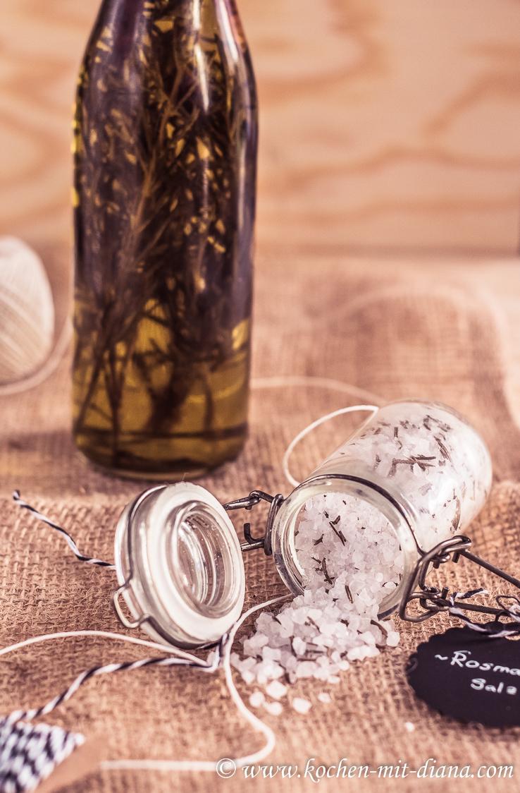 Rosmarin-Chilli Öl & Rosmarinsalz
