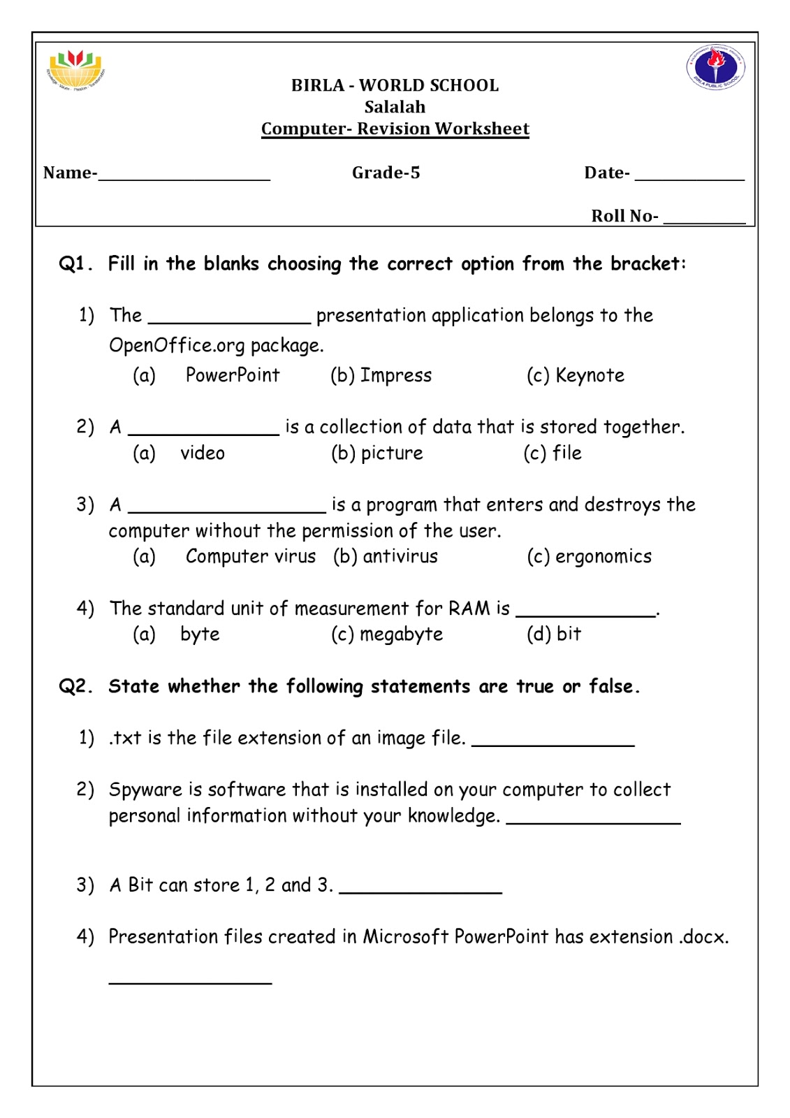 Computer Worksheets   Printable Worksheets and Activities for Teachers [ 1600 x 1131 Pixel ]