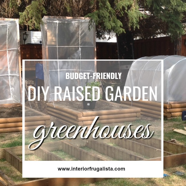 DIY Raised Garden Greenhouses