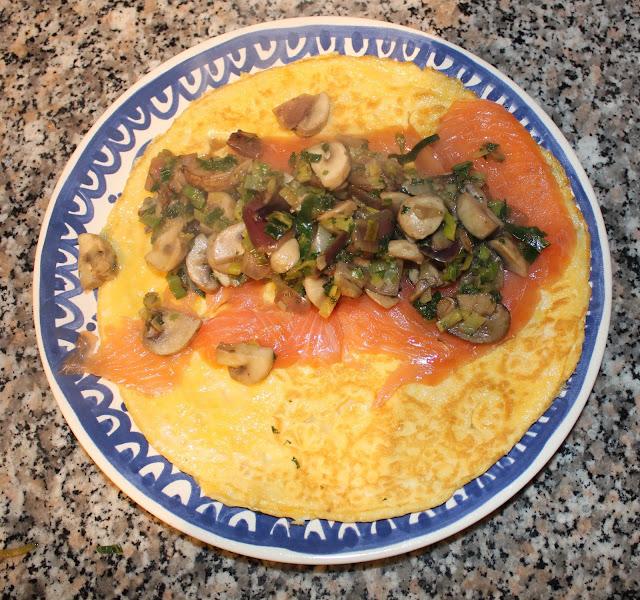 Wrap met zalm en groente