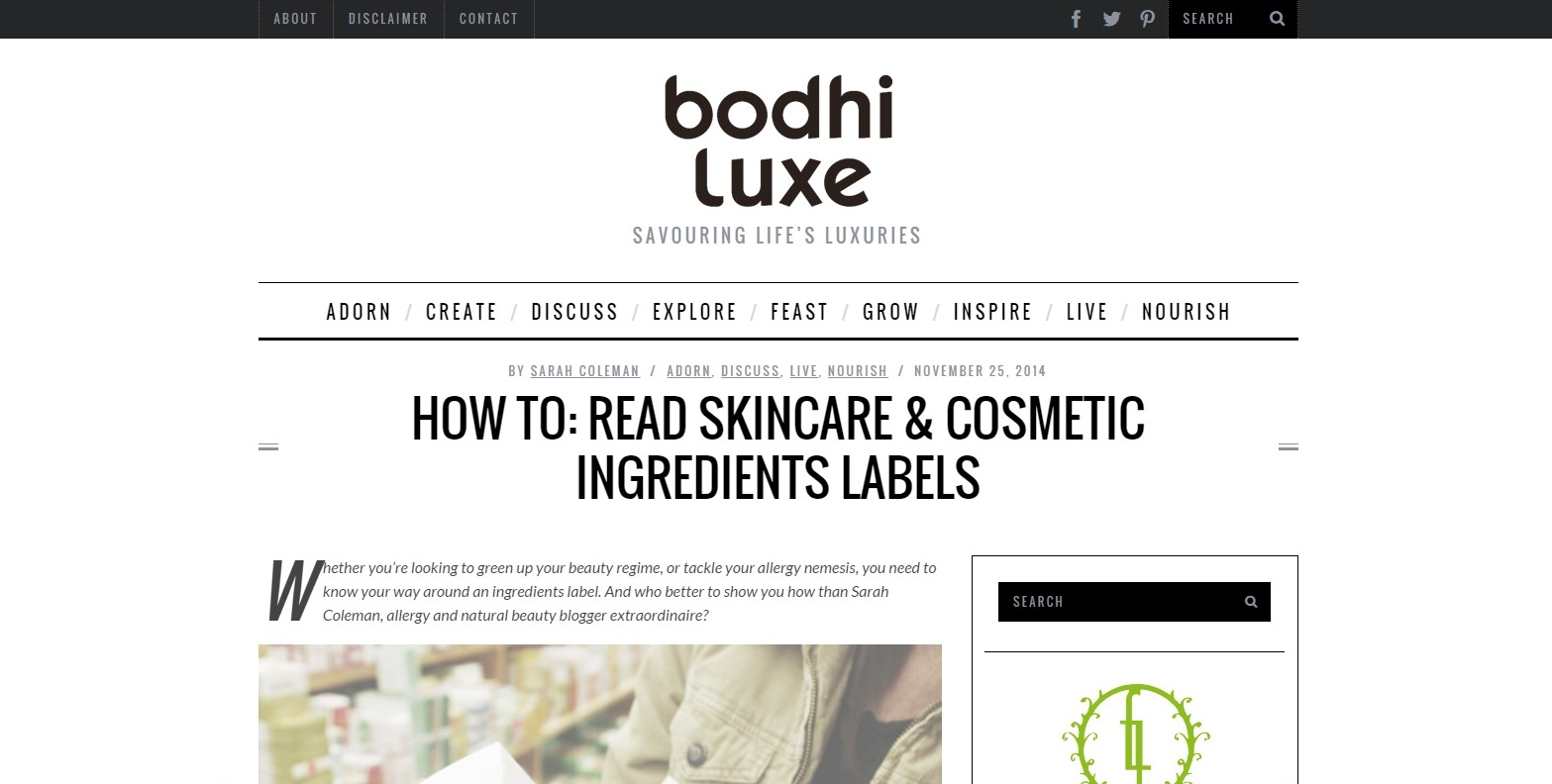 How To Read Skincare and Cosmetic Ingredients Labels