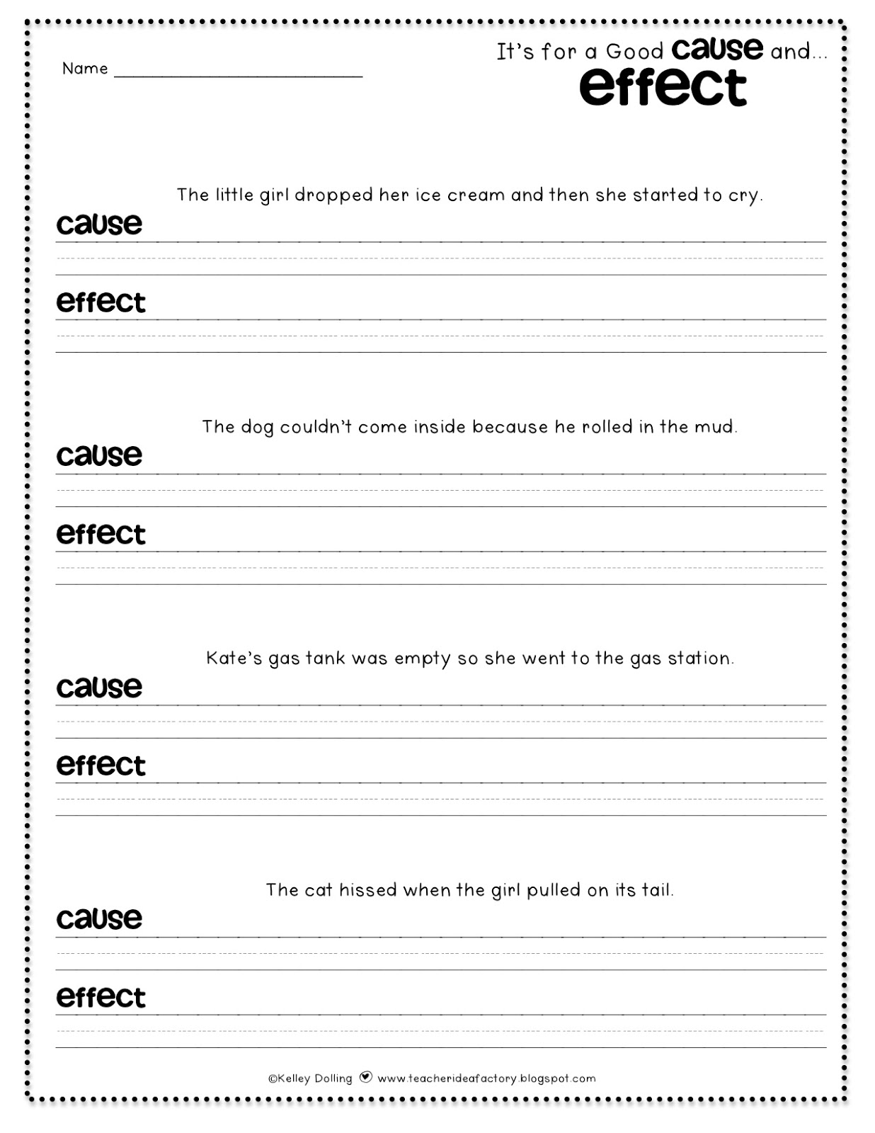 Cause And Effect Worksheet Adults