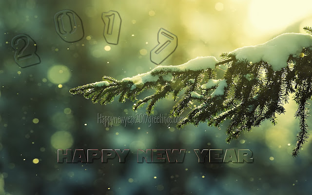New year 2017 ICE Wallpaper background download free