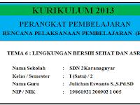 RPP Kelas 1 Semester 2 Kurikulum 2013 Revisi tahun 2017