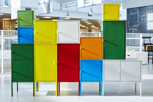 IKEA hösten 2016 - Lixhult skåp i metall kommer i fyra olika storlekar och fem färger | www.var-dags-rum.se