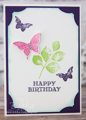 Kinda Eclectic Butterfly Birthday Card By Stampin' Up! UK Demo Bekka Prideaux - get the details and buy the supplies here