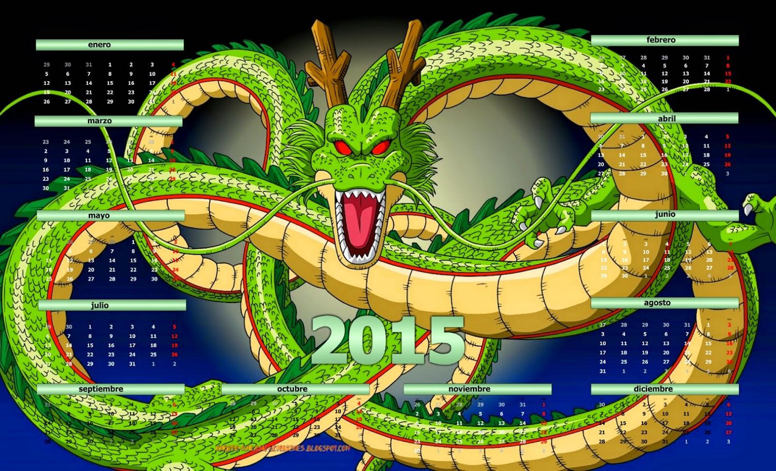 Anim im genes by akatsuki karasu calendarios 2015 dragon for Cuartos decorados de dragon ball z