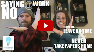 Saying NO at Work (Episode 7). The 5th installment in our series: How to Leave on Time and Never Take Papers Home Again ... In which we discuss the areas we might be saying yes too often and why we might be saying yes.