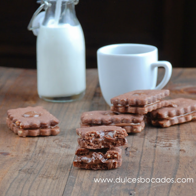 Galletas de cacao y Nutella