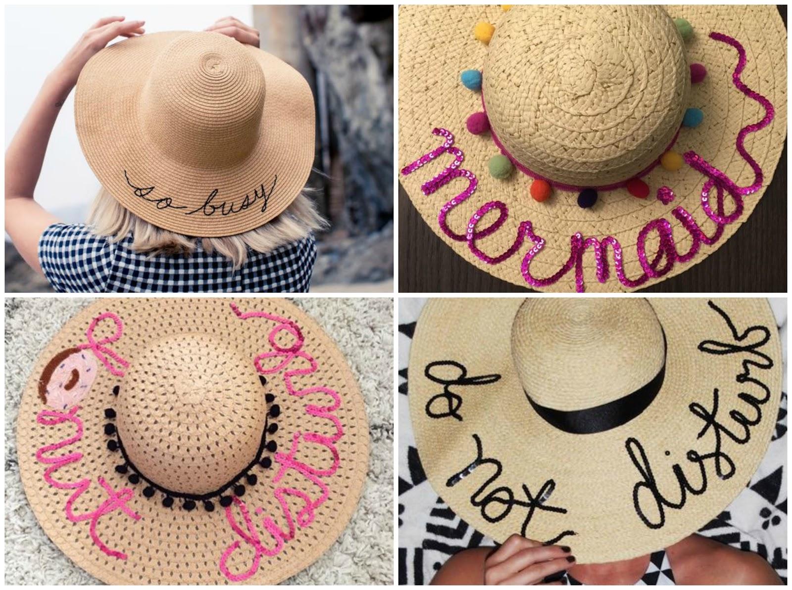 8833d6c275333 Outra maneira super simples and barata de ter um chapéu de palha exclusivo