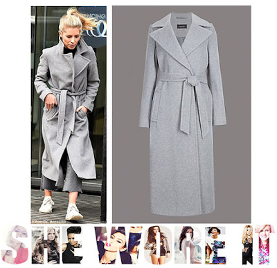 Mollie King, Marks And Spencer, Grey, Belted Coat, Wool, Winter, Wrap, Strictly Come Dancing