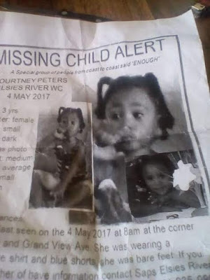 Body of missing 3-year-old girl found in shallow grave in South Africa