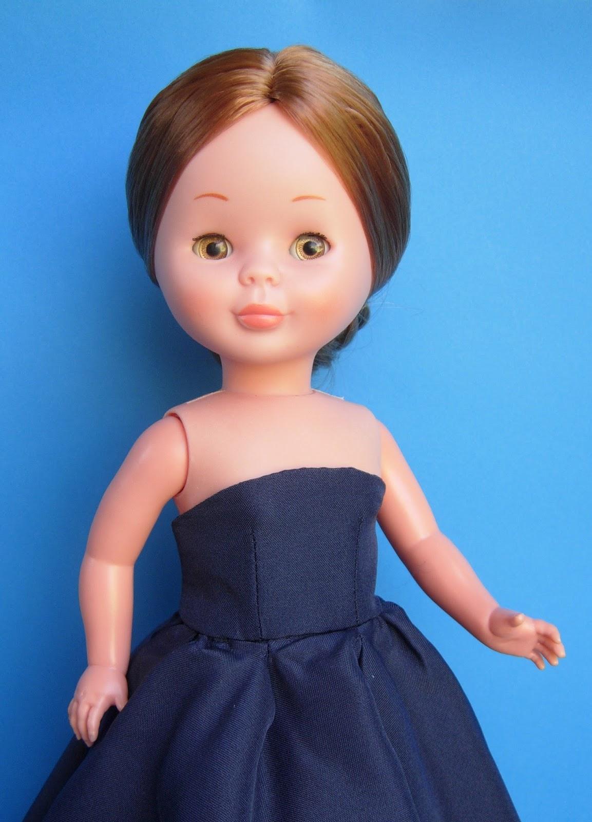 Vestido azul da lomba larga - 5 10