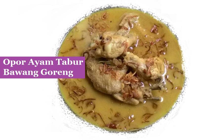 Resep masakan opor tahu bawang goreng khas Indonesia