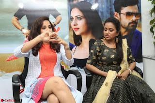 Actress Suma in Black Salwar Suit and Anusuya in orange Dress at winner movie press meet part 2 February 2017 (12).JPG