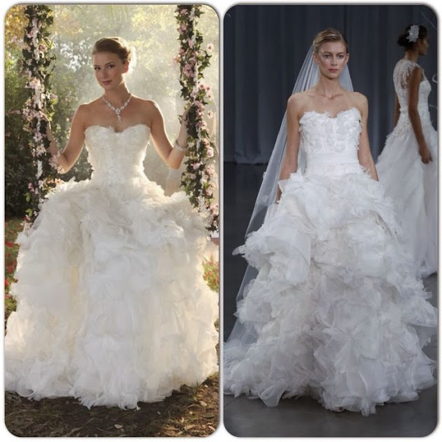 Emily VanCamp in Monique Lhuillier Wedding Dress - Seen on 'Revenge'