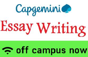 Capgemini Essay Writing Topics