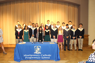 Montgomery Catholic Inducts New NHS Members and Honors Senior Members 3