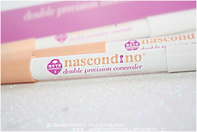 review nascondino, double precision concealer , neve cosmetics