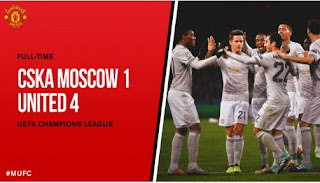 CSKA Moscow vs Manchester United 1-4 Video Gol & Highlights