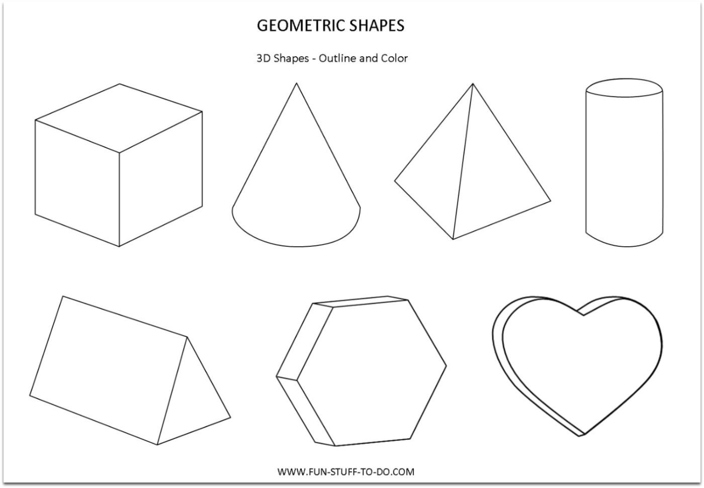 3d Shapes For Children :: 3d Puzzle Image
