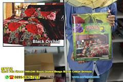 Sprei Fata Queen 160×200 Black Orchid Bunga Merah Coklat Dewasa
