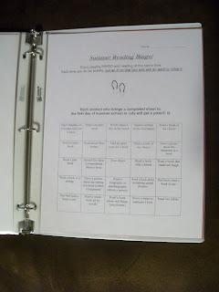 summer reading sheet