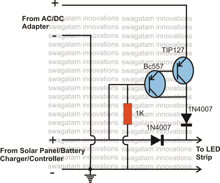 gide  how to make an over charging circuit for a solar panel