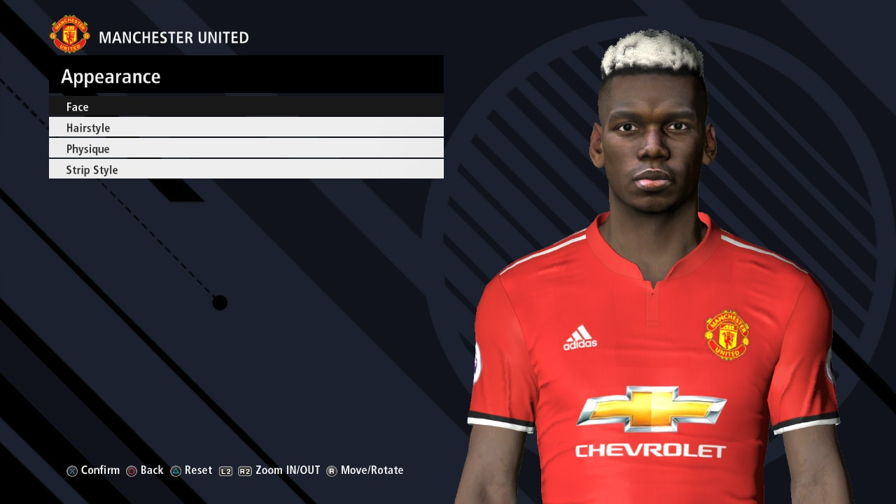 PES 2017 P. POGBA v3 Face by Ahmed Tattoo & Facemaker