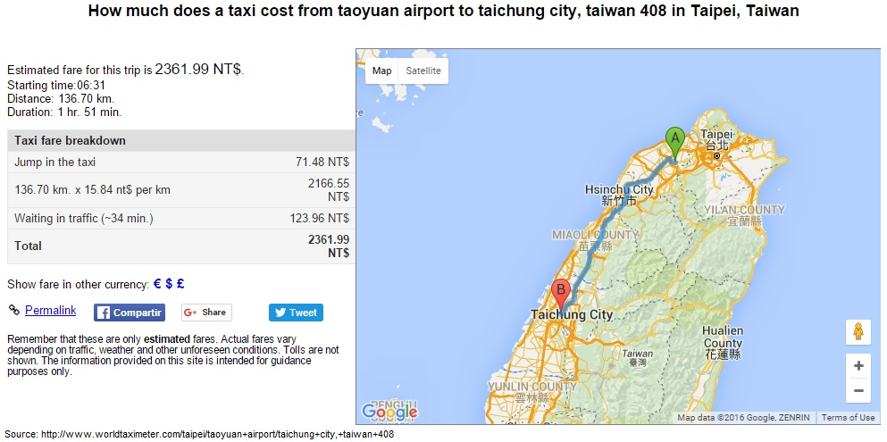 Wendy Boey How to Travel from Taoyuan Airport to Taichung