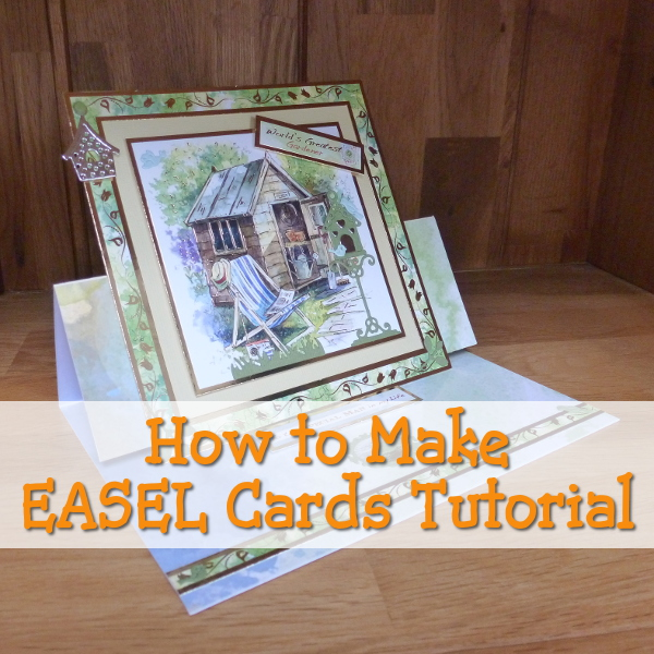 How to Make an Easel Card: Really Easy Beginner Card Making Tutorial by CraftyMarie