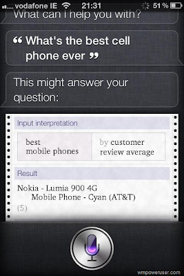 Apple Siri - Nokia Lumia 900
