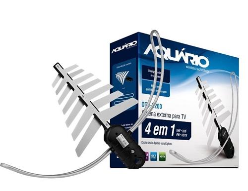 A antena para TV digital DTV-3200 - Aquário pode ser encontrada nas principais redes de varejo e lojas virtuais por cerca de R$ 79