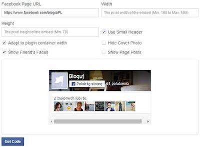 Konfiguracja wtyczki Facebook i dodanie jej na bloga blogspot