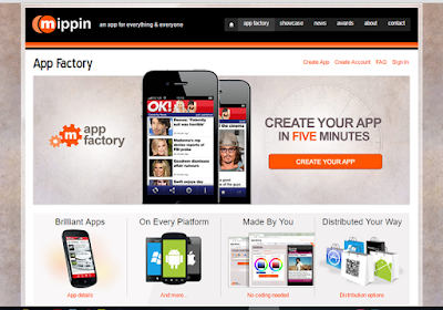 App Factory offers a straightforward app-building process