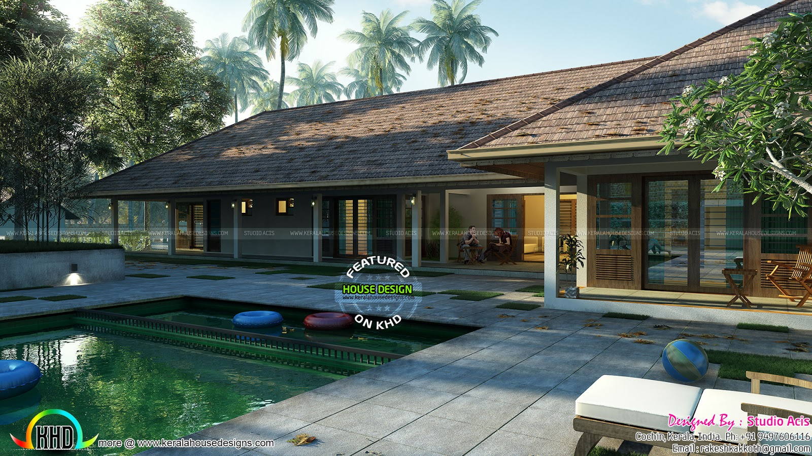 luxury one floor home with pool kerala home design and luxury one floor home with pool kerala home design